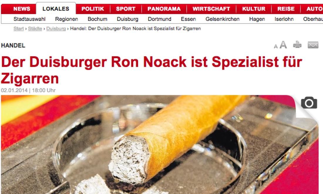 WAZ Artikel – Ron Noack ist ein Genussmensch